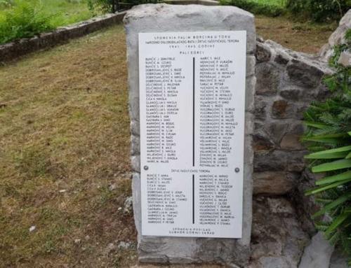 Обновљена спомен плоча у Чатрњи код Крњака
