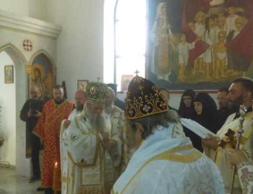 Jeckov i Milošević na liturgiji za žrtve logora Jasenovac