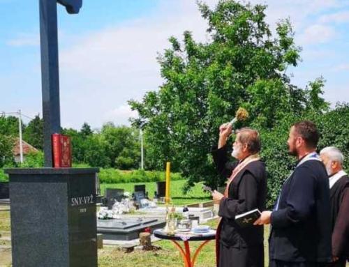 Osvećen novi krst u Slavonskim Barama